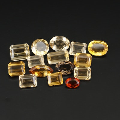 Loose 208.18 CTW Mixed Cut Citrine