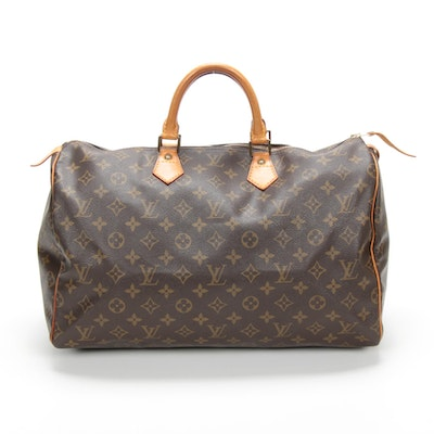 Louis Vuitton Speedy 40 in Monogram Canvas and Vachetta Leather