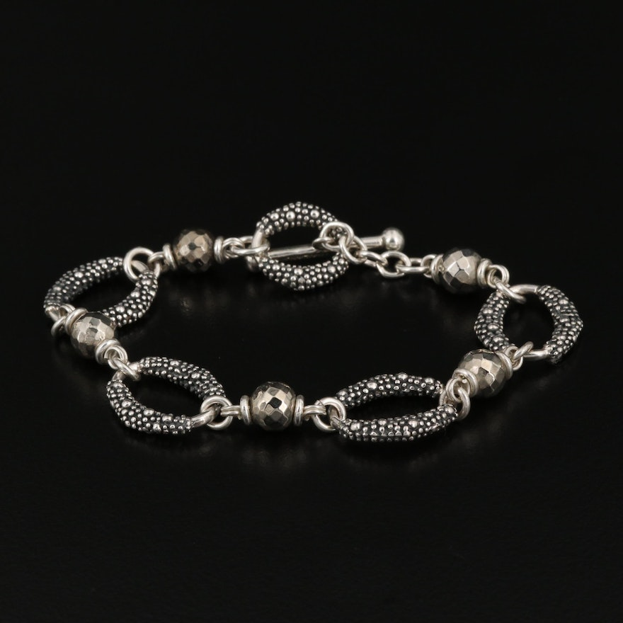 Michael Dawkins Sterling Bracelet with Toggle Clasp