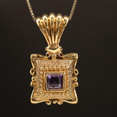 Sterling Amethyst Necklace