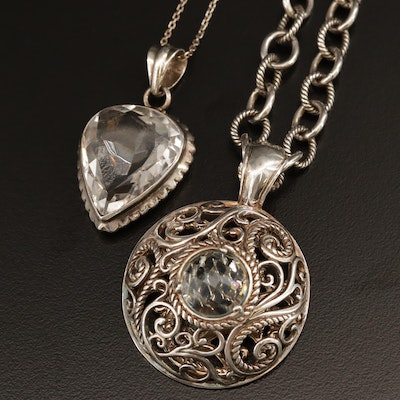 Sterling Silver Necklaces Featuring Carolyn Pollack for Relios