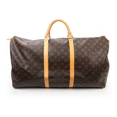 Louis Vuitton Keepall 55 Duffel in Monogram Canvas and Vachetta Leather