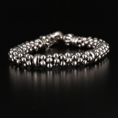 Lagos Signature Caviar Sterling Silver Beaded Bracelet