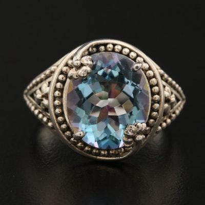 Sterling Silver Quartz Three-Clover Ring