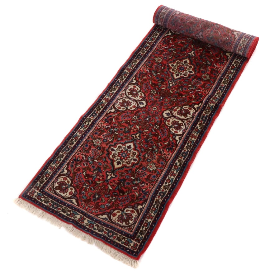 2'9 x 13' Hand-Knotted Persian Sarouk Runner Rug