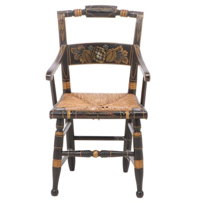 "American Grain-Painted and Gilt-Stenciled Child's ""Fancy"" Armchair, 19th Century"