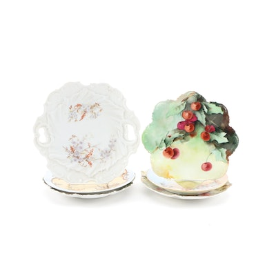 Tressemanes & Vogt and Other Hand-Painted Porcelain Plates