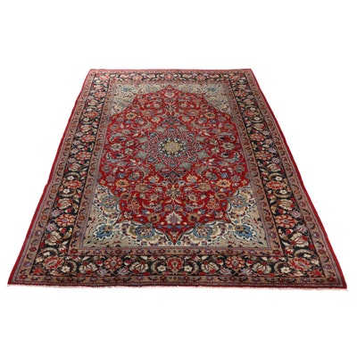9'4 x 13'1 Hand-Knotted Persian Najafabad Kashan Room Sized Rug