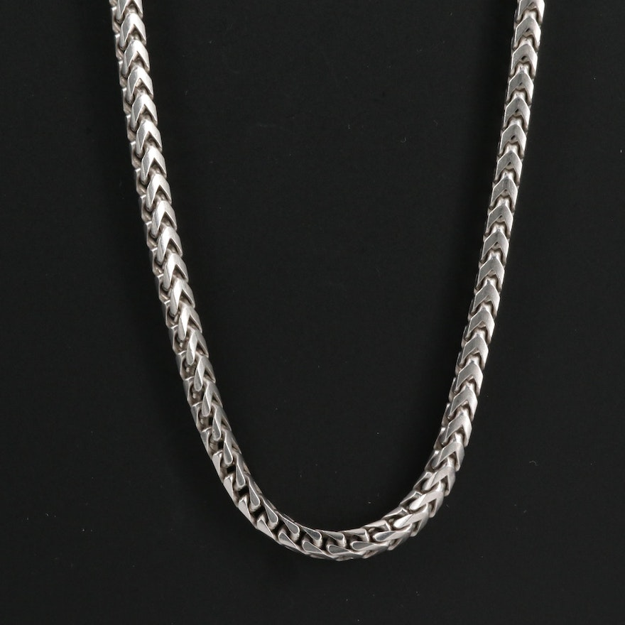Sterling Fancy Link Chain