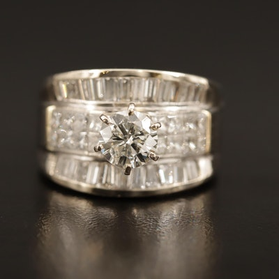 18K Triple Row 3.77 CTW Diamond Ring