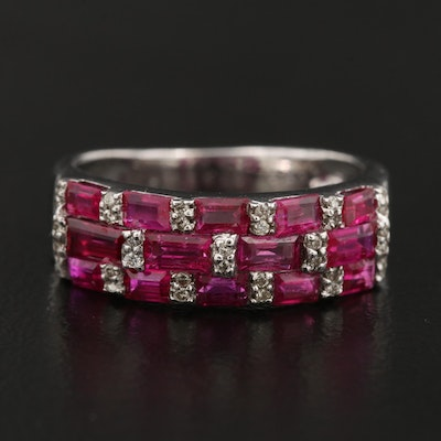 18K Diamond and Ruby Band