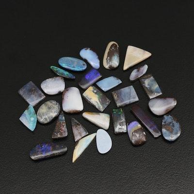 Loose Mixed Shape Boulder Opal Cabochons
