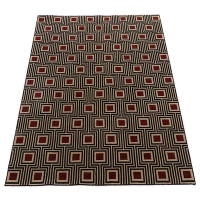 """5'6 x 7'6 Nourison Manhattan Collection """"Grammercy"""" Machine-Made Wool Area Rug"""