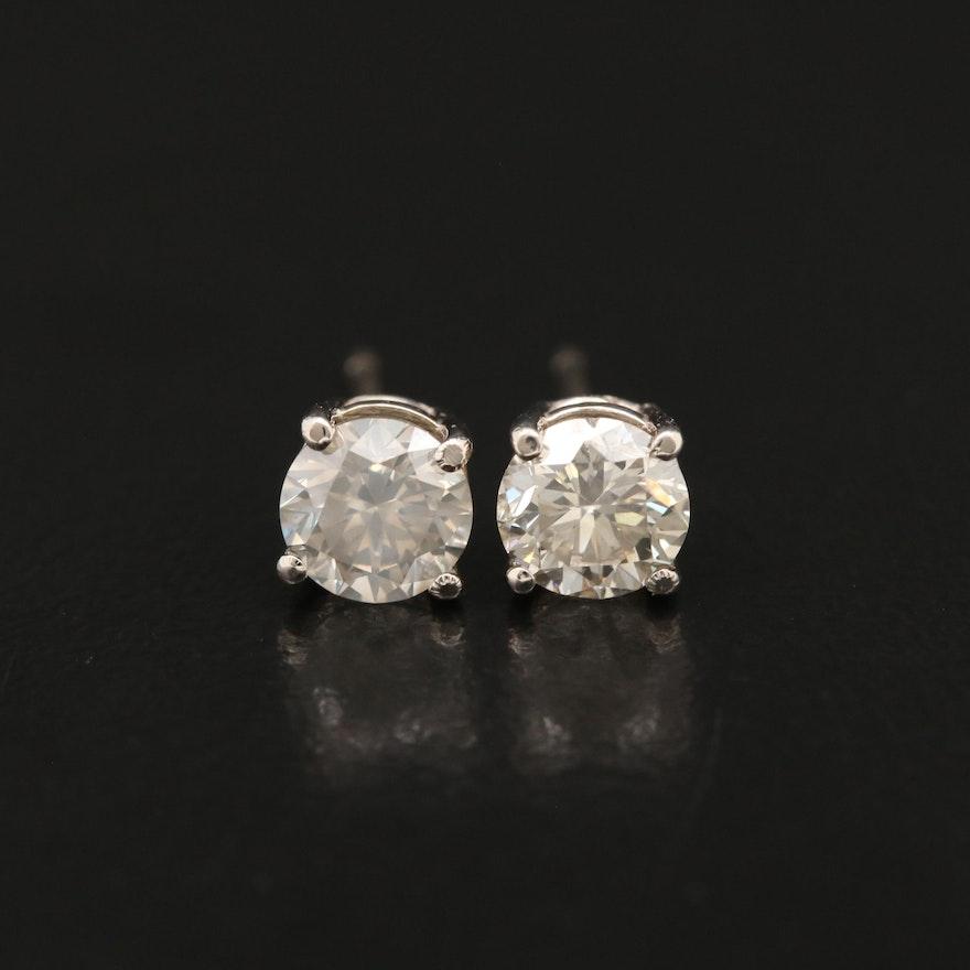 14K 1.01 CTW Diamond Stud Earrings
