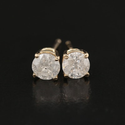 14K 1.00 CTW Diamond Stud Earrings