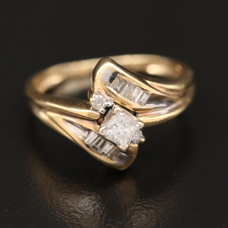 14K Bypass Ring