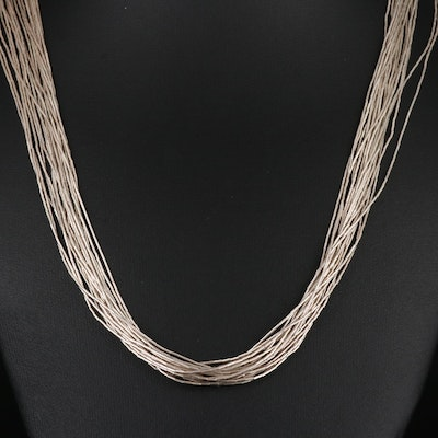 Sterling Liquid Silver Necklace