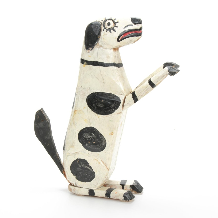 Levent Isik Folk Art Dog, Late 20th to 21st Century