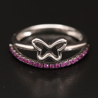 14K Sapphire Butterfly Ring