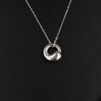 "Elsa Peretti for Tiffany & Co. Sterling ""Eternal Circle"" Pendant Necklace"