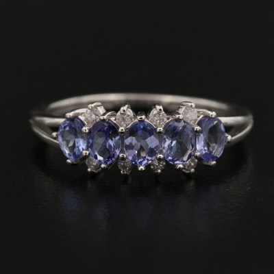 14K Tanzanite Ring with Diamond Accents