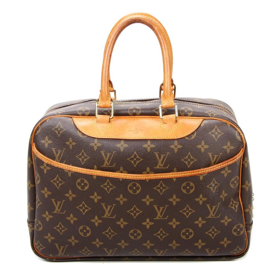 Louis Vuitton Trouville Satchel in Monogram Canvas and Vachetta Leather