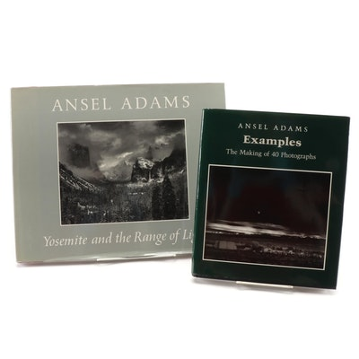 "Ansel Adam Books ""Yosemite and Range of Light"" and ""Examples: 40 Photographs"""