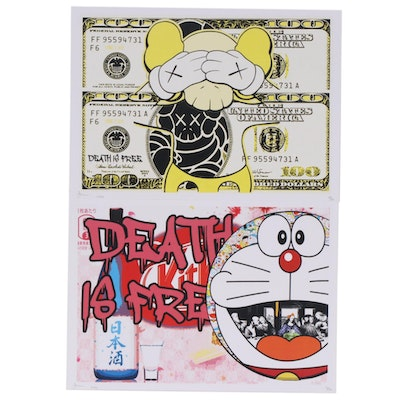 "Death NYC ""Death is Free"" Pop Art Graphic Prints, 2020"
