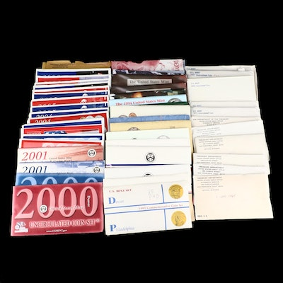 US Mint Uncirculated and Silver Proof and Bicentennial Coin Sets