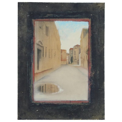 Blair Gibeau Mixed Media Street View, Late 20th Century