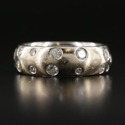 14K Diamond Gypsy Set Band