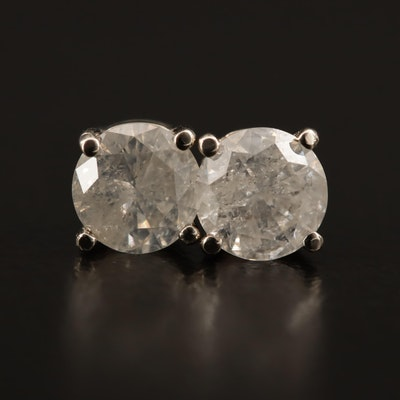 14K 1.26 CTW Diamond Solitaire Earrings
