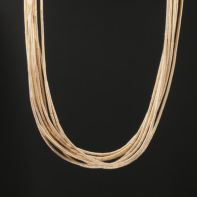 Liquid Gold Filled Multi-Strand Necklace