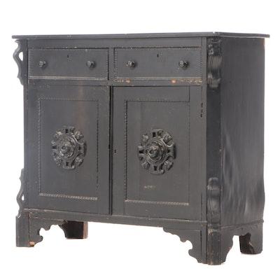 American Rococo Revival Ebonized Server, Third Quarter 19th Century