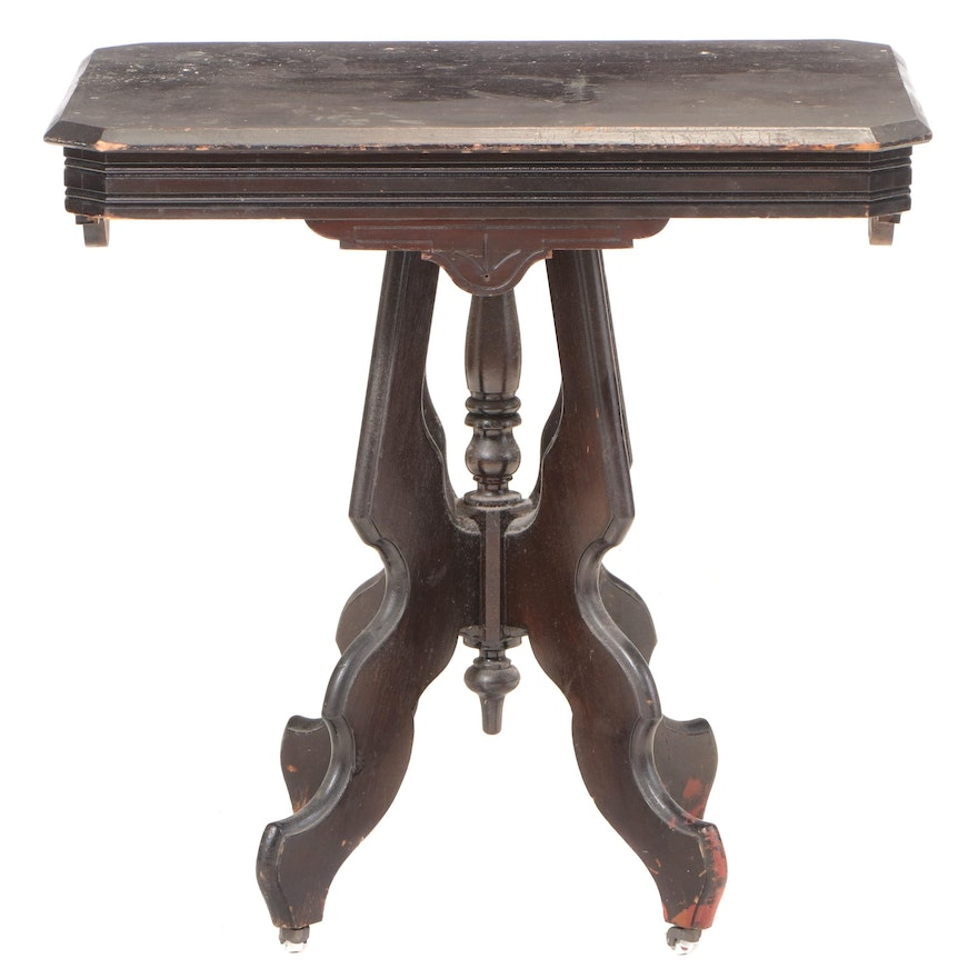 Victorian Walnut-Stained Side Table, Late 19th Century