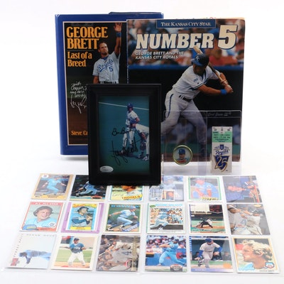 George Brett Signed Photo with Bill Buckner JSA, Signed Book and Memorabilia