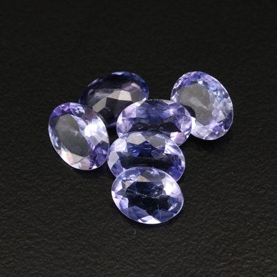 Loose 5.93 CTW Faceted Tanzanites