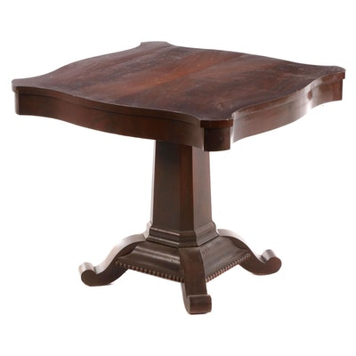 Mahogany Pedestal Center Table, Early 20th Century