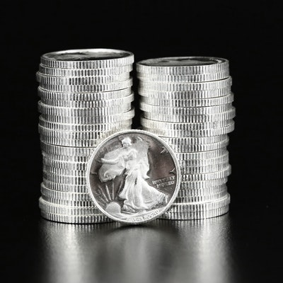 Forty-two 1/10th Ounce .999 Fine Silver Coins