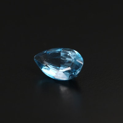 Loose 5.11 CT Pear Faceted Topaz