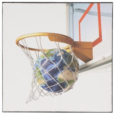 """Giclée After Leonello Calvetti """"Basketball Globe"""", 2010s"""