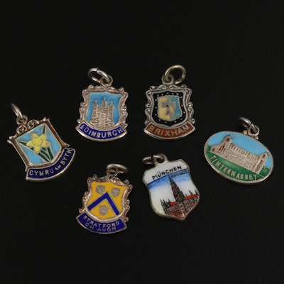 800 and Sterling Silver Travel Charms