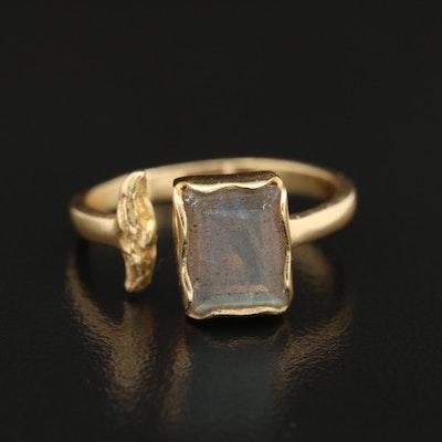 Sterling Labradorite Open Shank Ring