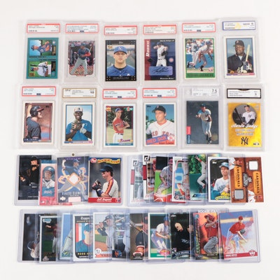 Derek Jeter 1993 UD SP Graded Rookie with Other Rookie, Relic and Graded Cards