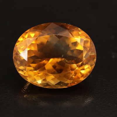 Loose 24.18 CT Oval Faceted Citrine