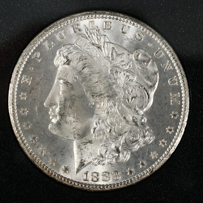Better Date Low Mintage 1883-CC GSA Morgan Silver Dollar