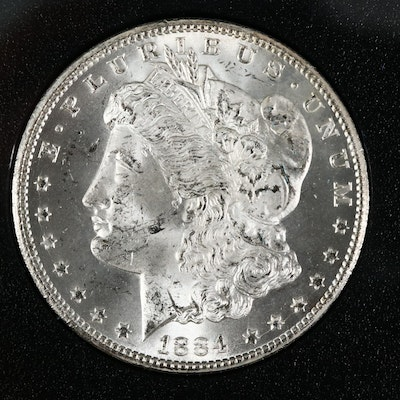 Better Date Low Mintage 1884-CC GSA Morgan Silver Dollar