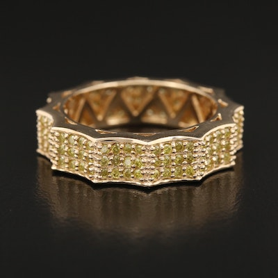 Scalloped 14K 1.20 CTW Yellow Diamond Eternity Band