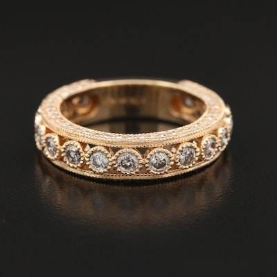 14K 1.50 CTW Diamond Milgrain Bezel Band