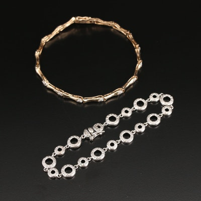 Sterling Diamond Bracelets